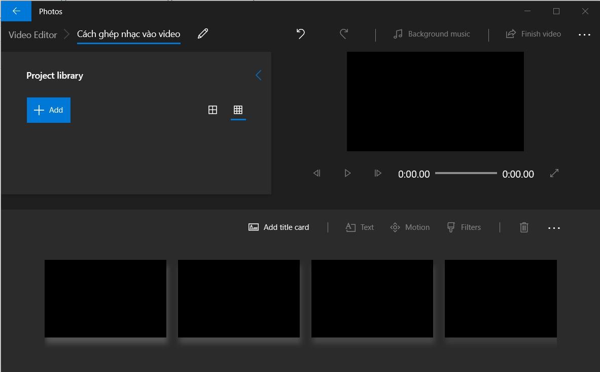 Cách ghép nhạc vào video trên máy tính