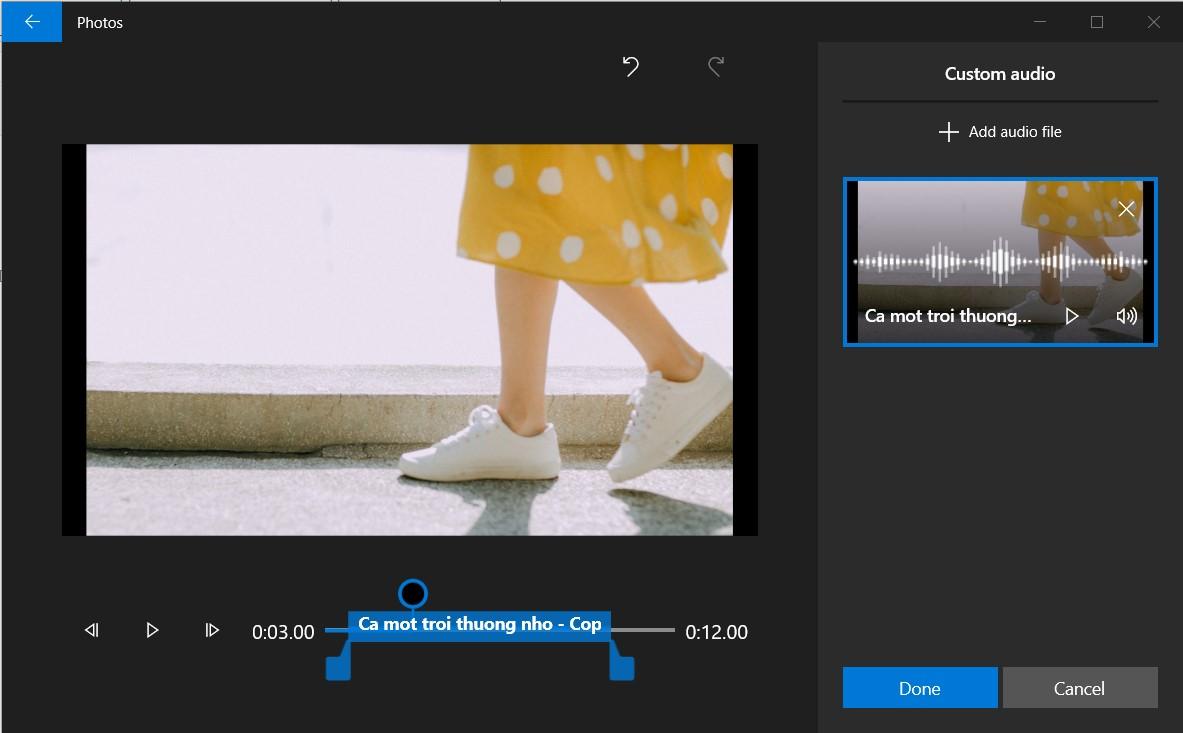 Chèn nhạc nền cho video