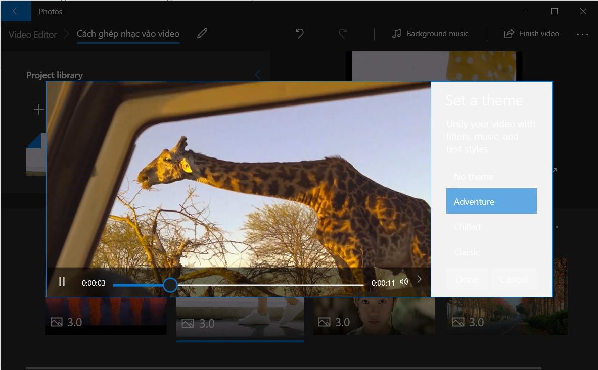 Chọn các theme có sẵn của phần mềm Video Editor.jpg