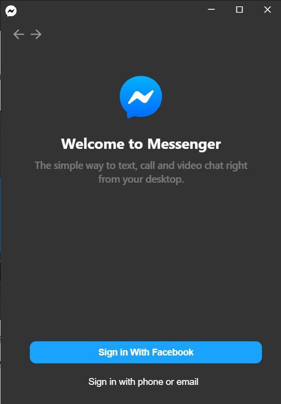 Phần mềm chat facebook messenger cho pc