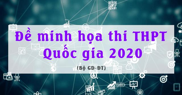 Đề thi minh họa 2020 môn hóa