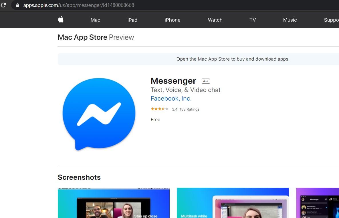 messenger cho may tinh mac