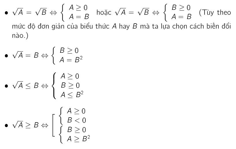 phương trình chứa căn bất phương trình chứa căn