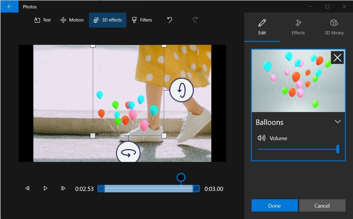 thêm hiệu ứng 3d cho ảnh và video