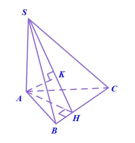 Cách dựng hình chiếu vuông góc của điểm A lên mặt phẳng (SBC) phương pháp tính khoảng cách từ điểm A tới mặt phẳng (P)