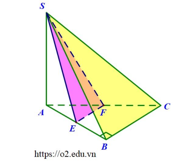 Hình chóp S.ABC đáy là tam giác vuông cân tại B