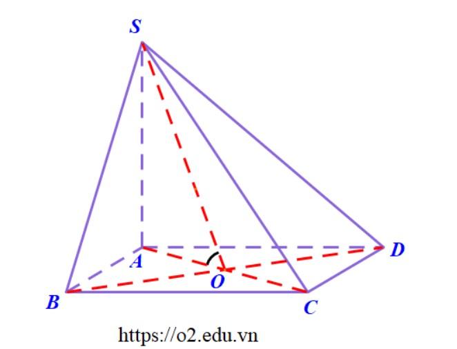 Hình chóp S.ABCD đáy là hình vuông SA vuông góc với đáy tính góc (SBD) và (ABCD)