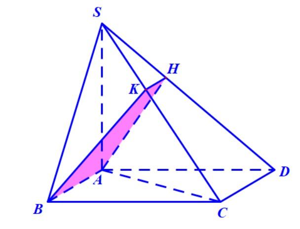 Hình chóp S.ABCD hình vuông mặt phẳng chứa AB và vuông góc với (SCD)
