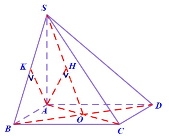 Hinh chop S.ABCD co day la hinh vuong cạnh bên SA vuông góc với đáy