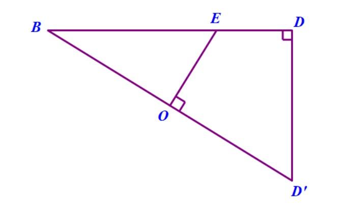 tam giác vuông có O là trung điểm cạnh huyền