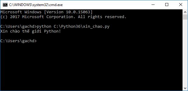 Chạy script .py bằng chương trình dịch Python