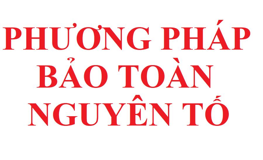 phuong phap bao toan nguyen to