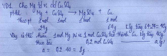 Phương pháp bảo toàn khối lượng VD1