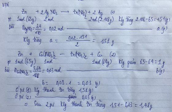 Phương pháp bảo toàn khối lượng VD6