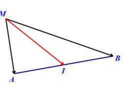 quy tắc trung điểm, tích của véc-tơ với một số thực, phép nhân vectơ với một số