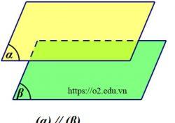 cách chứng minh hai mặt phẳng song song trong không gian