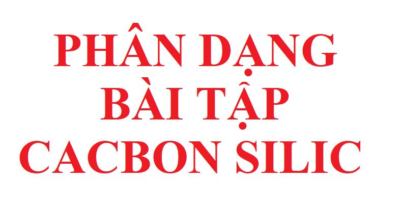 phân dạng bài tập cacbon silic