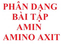Phân dạng bài tập amin amino axit