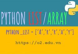 Python Arrays, Python list