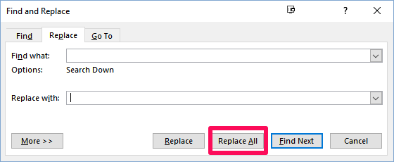 Remove Double Spaces in Word
