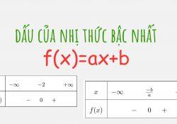 lý thuyết định lý dấu nhị thức bậc nhất
