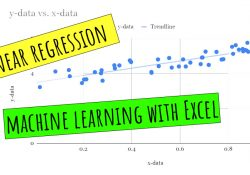 Linear regression machine learning with Excel
