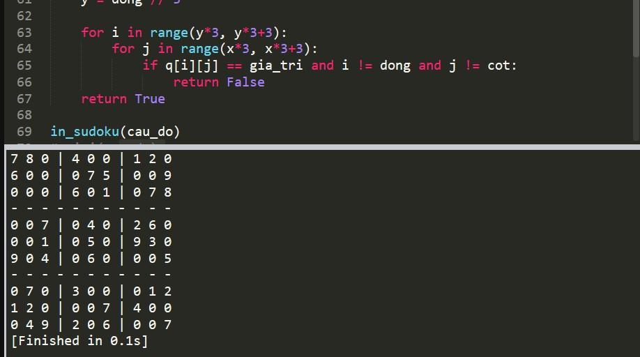 thuật toán giải sudoku