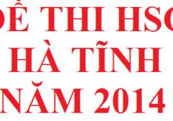 Đề thi HSG tỉnh Hà Tĩnh năm 2014 môn hoá học