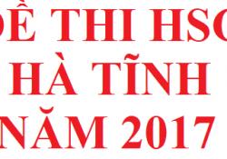 Đề thi HSG tỉnh Hà Tĩnh năm 2017 môn hoá học