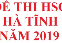 Đề thi HSG tỉnh Hà Tĩnh năm 2019 môn hoá học