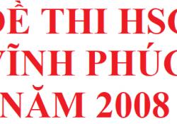 Đề thi HSG Vĩnh Phúc môn hoá học năm 2008