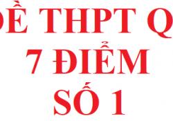 Đề thi THPT QG năm 2021