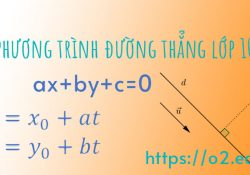 cách viết phương trình đường thẳng lớp 10