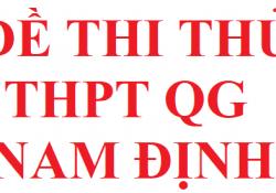 Đề thi thử THPT QG tỉnh Nam Định năm 2020