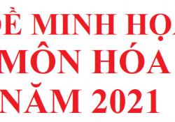 Đề minh họa môn hóa học năm 2021 file word