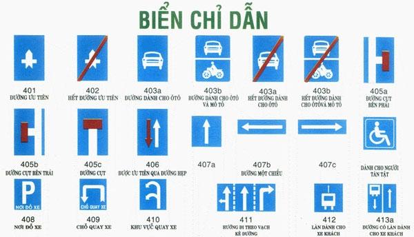 phân biệt các biển báo giao thông , biển chỉ dẫn