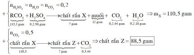 Cho 115,3 gam hỗn hợp hai muối MgCO3 và RCO3 vào dung dịch H2SO4 loãng, thu được 4,48 lít khí CO2