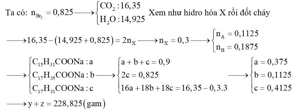 Hỗn hợp X gồm 2 triglixerit A và B (MA>MB; tỉ lệ số mol tưong ứng là 3: 5)