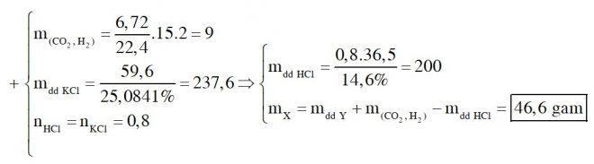 Hòa tan hoàn toàn m gam hỗn hợp X gồm K, K2O, KOH, KHCO3, K2CO3 trong lượng vừa đủ dung dịch HCl 14,6%