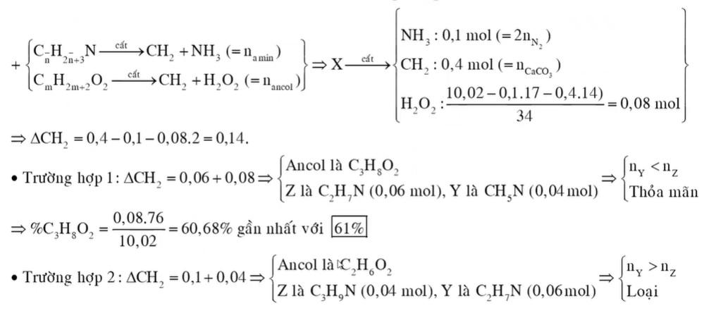 Hỗn hợp X chứa hai amin Y, Z no, đơn chức, mạch hở thuộc dãy đồng đẳng liên tiếp (MY < MZ và nY < nZ)