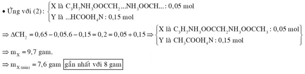 Cho 0,2 mol hỗn hợp E gồm chất X (CnH2n+4O4N2) và chất Y (CmH2m+3O2N) đều mạch hở tác dụng vừa đủ với