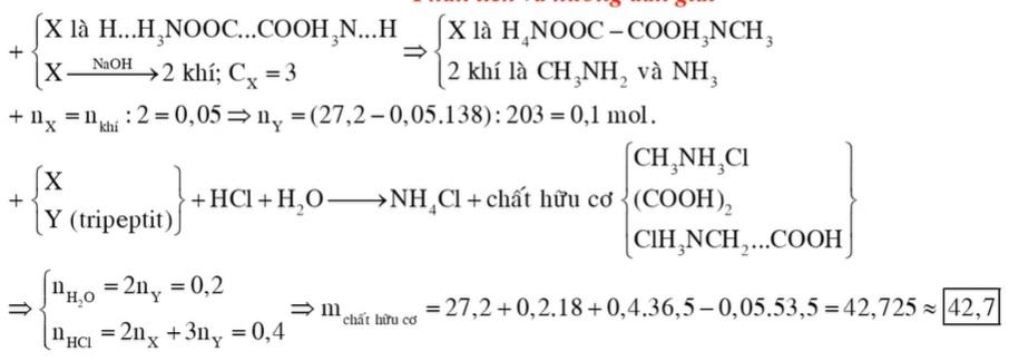 Hỗn hợp E gồm chất X (C3H10N2O4) và chất Y (C7H13N3O4), trong đó X là muối của axit cacboxylic đa chức