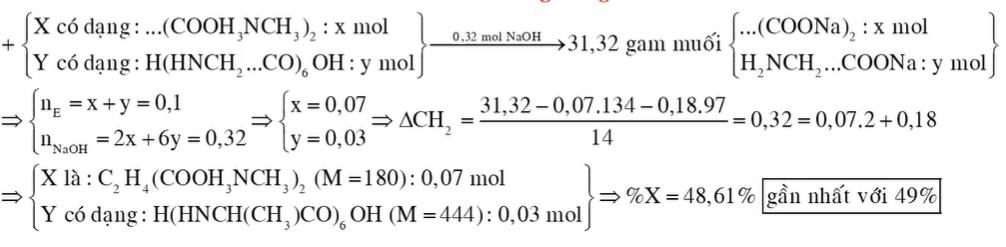 Hỗn hợp E gồm hai chất X và Y; trong đó chất X (CnH2n+4O4N2) là muối amoni của axit cacboxylic đa chức