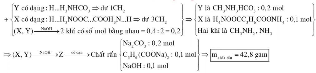 Hỗn hợp E gồm chất X (C5H14N2O4, là muối của axit hữu cơ đa chức) và chất Y (C2H7NO3, là muối của một axit vô cơ)