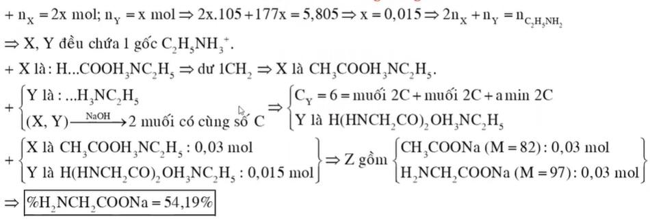 Cho hỗn hợp E gồm X (C4H11O2N là muối của axit cacboxylic) và chất hữu cơ mạch hở Y (C6H15O3N3) có tỉ lệ mol 2 : 1
