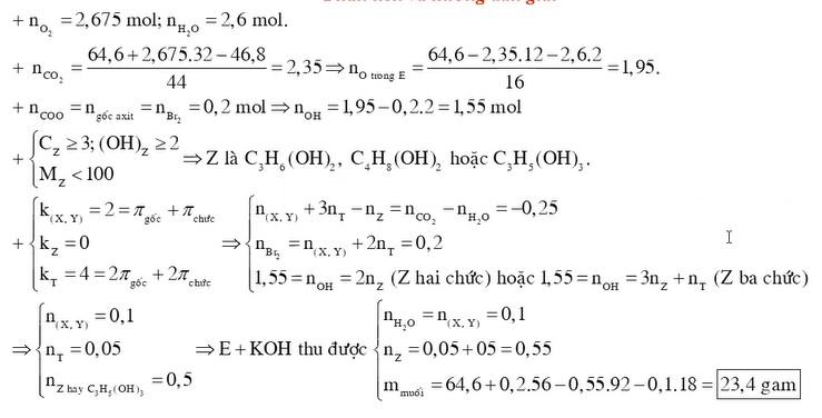 Cho X Y là hai chất thuộc dãy đồng đẳng của axit acrylic và MX MY Z là ancol có cùng số nguyên tử cacbon với X