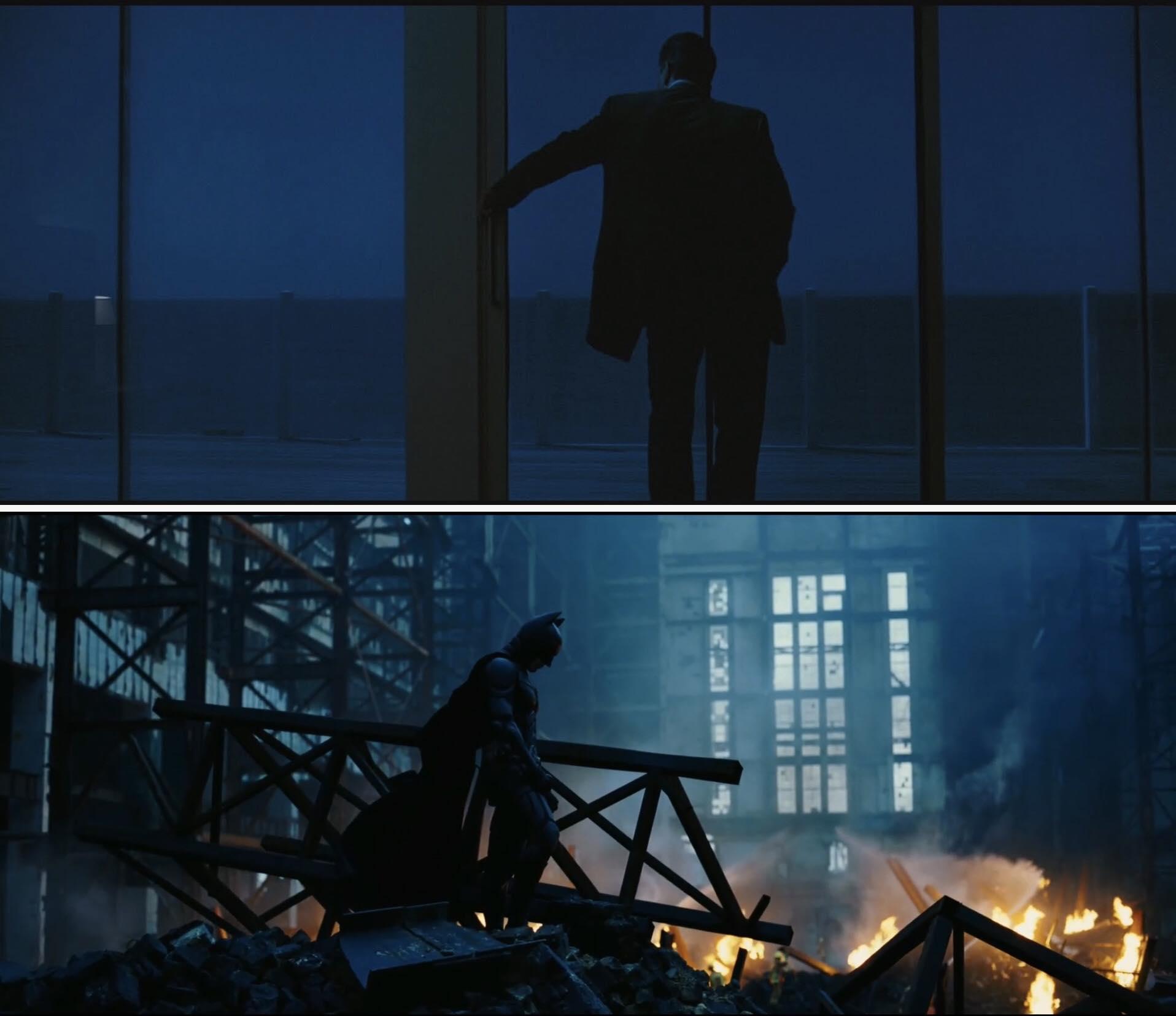Heat, Michael Mann, 1995 và The Dark Knight, Christopher Nolan, 2008 'Tôi luôn cảm thấy rằng Heat là một ví dụ xuất sắc của việc bạn có thể tạo ra một vũ trụ rộng lớn chỉ trong phạm vi một thành phố cũng như khả năng giữ cân bằng một cách hiệu quả giữa một lượng lớn các nhân vật và hành trình cảm xúc của họ.' (Christopher Nolan)