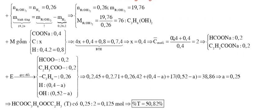 X Y là 2 axit cacboxylic đều mạch hở Z là ancol no T là este hai chức được tạo bởi X Y Z