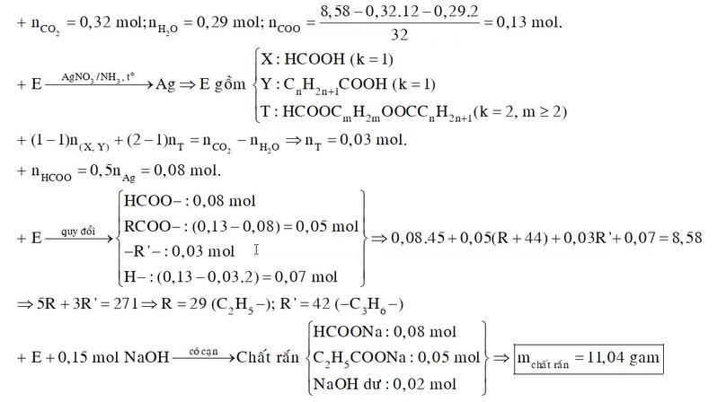 X Y là 2 axit đơn chức cùng dãy đồng đẳng T là este 2 chức tạo bởi X Y với ancol no mạch hở Z