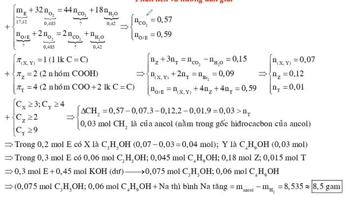 X Y là hai chất hữu cơ kế tiếp thuộc dãy đồng đẳng của ancol anlylic Z là axit no hai chức mạch hở T là este tạo bởi X Y Z
